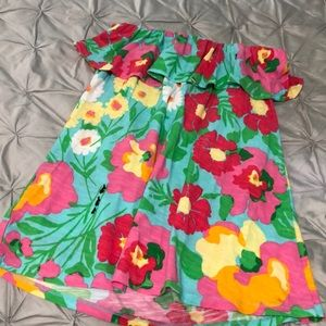 Lilly Pulitzer ruffled tube top size small
